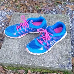 Skechers Pink & Blue Sneakers